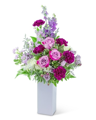Graceful Garden Vase Flower Arrangement
