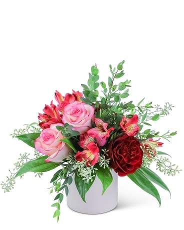 Sweet Red Velvet Flower Arrangement