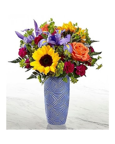 Beautiful Blue Flower Arrangement