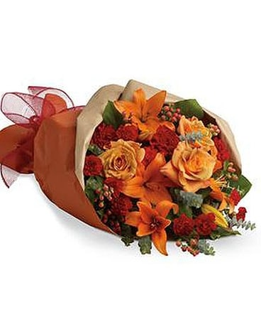 Orange Assortment Flower Arrangement