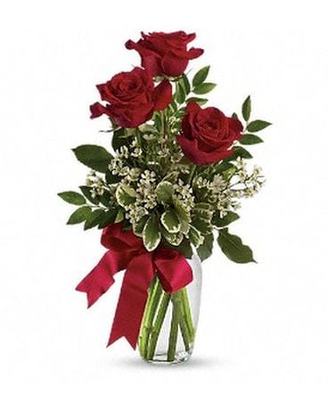 3 Roses Bouquet Flower Arrangement