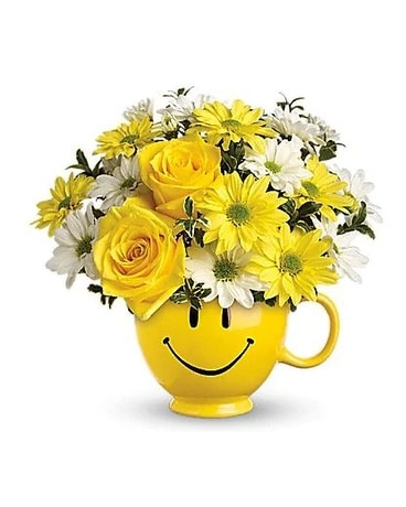 Teleflora's Be Happy® Bouquet with Roses Flower Arrangement