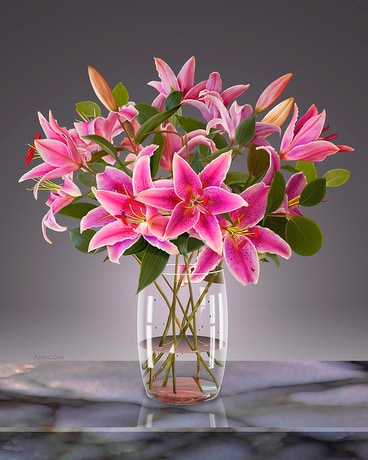 Stunning Stargazers Flower Arrangement