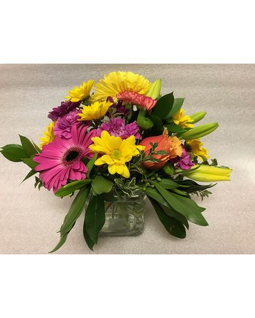 RAINBOW CUBE Flower Arrangement