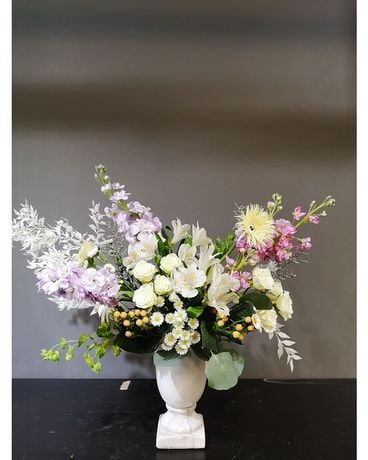 Wild French Urn style Flower Arrangement