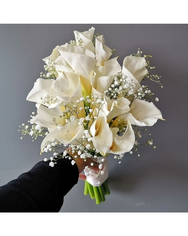 Elegant Calla Lily Bridal Bouquet (large) Wedding Arrangement
