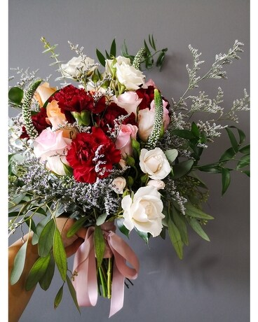 Burgundy Bridal Bouquet Wedding Arrangement