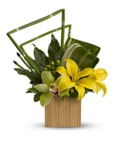 Bamboo Zen Flower Arrangement