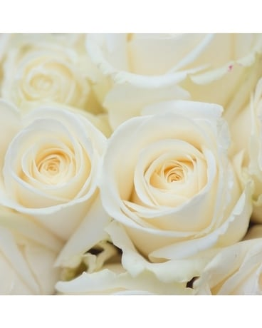 White Rose Bouquet Flower Arrangement