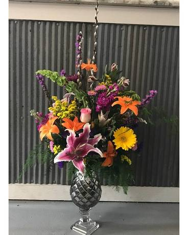 Coastal Color Explosion Flower Arrangement