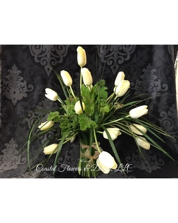 Coastal French Tulips Flower Arrangement
