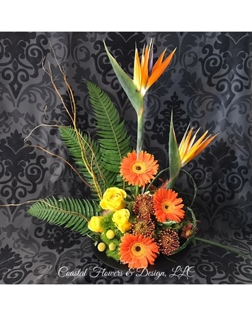 Coastal Birds Flower Arrangement