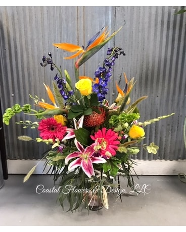 Coastal Tropical Flower Arrangement