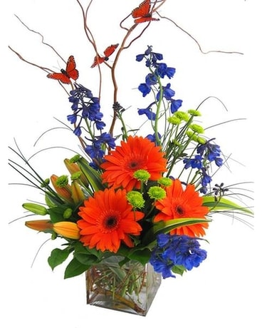Butterflies & Blooms by Cactus Flower Flower Arrangement