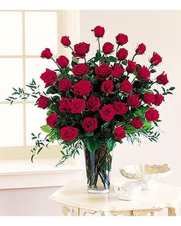 Three Dozen Red Roses - Out of Town Flower Arrangement
