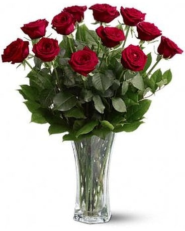 Dozen Red Roses - Out of Town Flower Arrangement