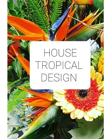 House Tropical Flower Arrangement