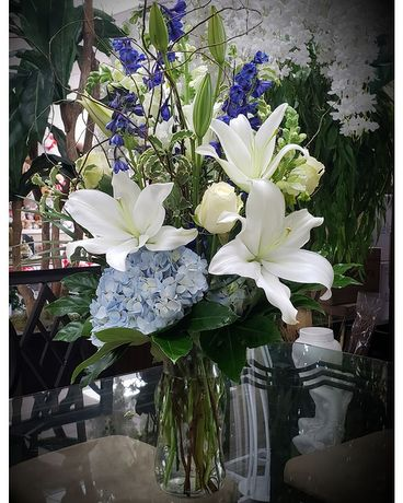 Beautiful Blue Bouquet Flower Arrangement