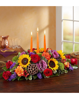 Garden of Grandeur for Fall Centerpiece Flower Arrangement