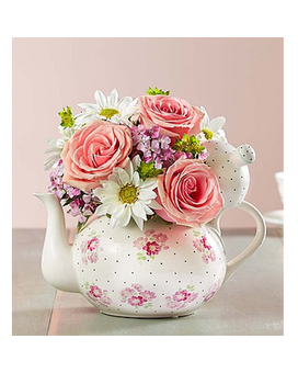 Tea Party Flower Arrangement