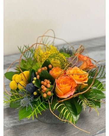 Cantaloupe smiles Flower Arrangement