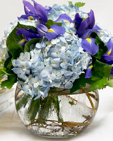 Sky Blue Flower Arrangement