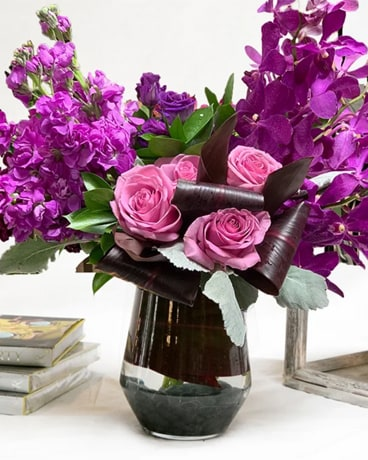 Purple Summer Flower Arrangement