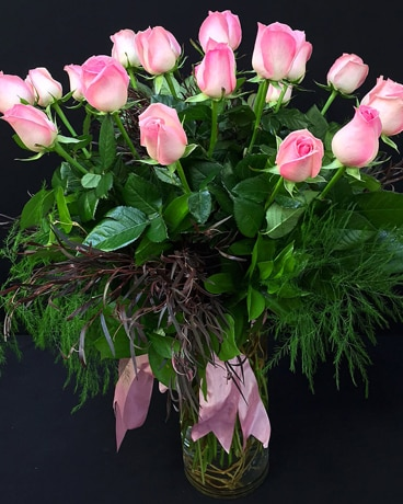 24 Classic Roses Arranged Flower Arrangement