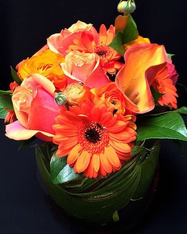 Orange Spring Flower Arrangement