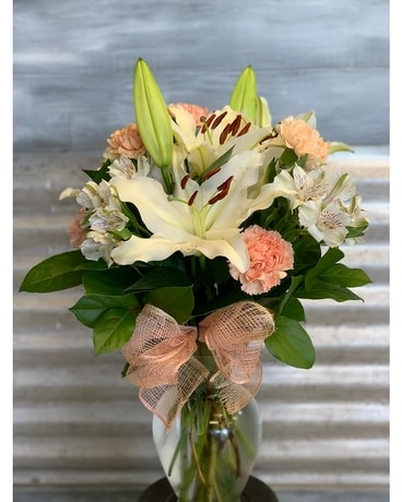 Blooming Lilies Flower Arrangement
