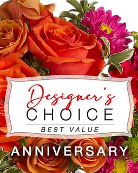 Anniversary Designer's Choice Flower Arrangement