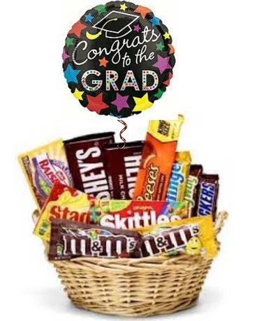 Graduation Snack Candy Basket Gift Basket