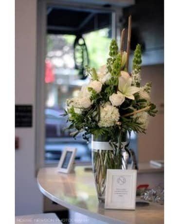 Pure White Elegance Flower Arrangement