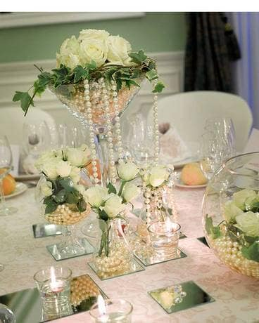 White Centerpiece Flower Arrangement
