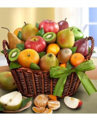 Flowers & More Premier Orchard Fruit Gift Basket Basket Arrangement