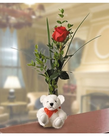 Flowers & More Bear Hugs Flower Arrangement