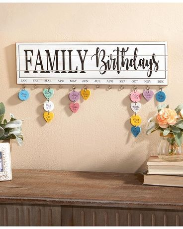 Family Birthday Plaque Flower Arrangement