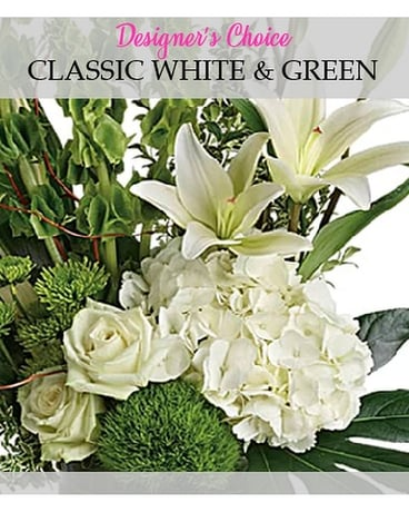 Designers Choice  Classic White and Green