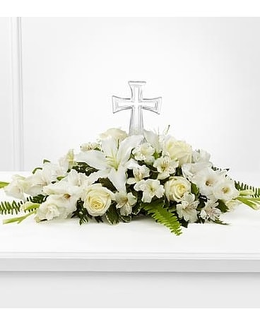 Eternal Light Bouquet Funeral Arrangement