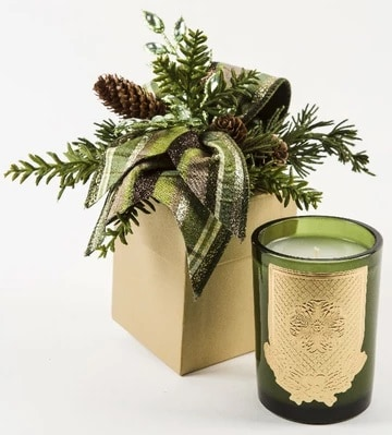 Lux Decorated Holiday Candles