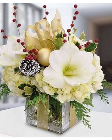 Golden Gift Flower Arrangement