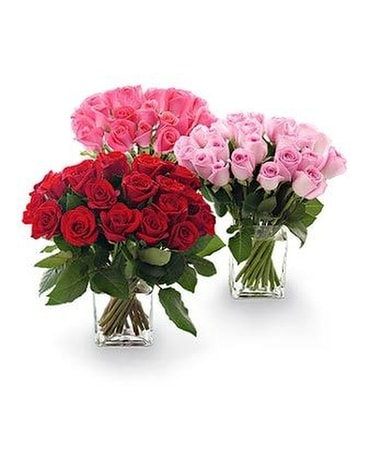 25 Roses Clustered in a Compact Design Flower Arrangement