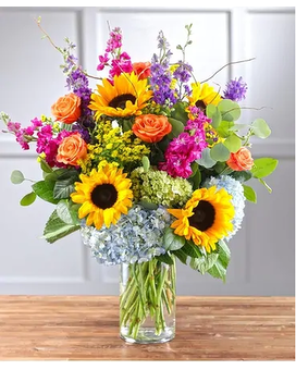 VIBRANT GARDEN VISTA Flower Arrangement