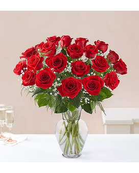 Two Dozen Roses - Choose Your Color Flower Arrangement