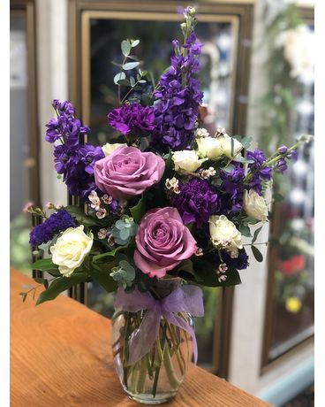 Passionate About Purples Flower Arrangement
