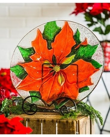 Poinsettia Bird Bath Gifts