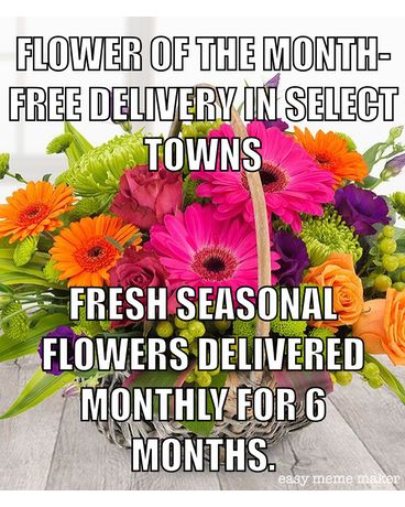 Flower of the Month Free Delivery Flower Arrangement