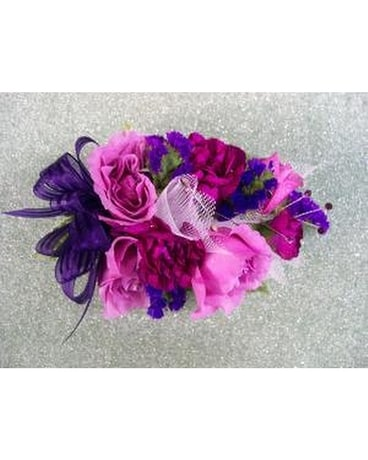 Pink Roses & Pink & Purple Mix Wrist Corsage Corsage