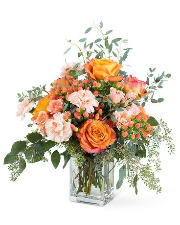 Coral Symphony Flower Arrangement