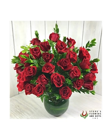 50 Medium Stemmed Roses Flower Arrangement